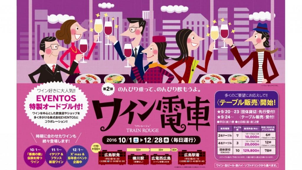 広島電鉄ワイン電車