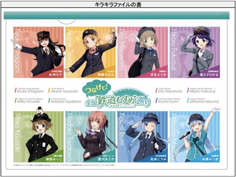 関西民鉄8社連携鉄道むすめ硬券セット3